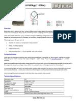 Load Cell Data Sheet 500kg