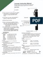Dosimeter Instructions