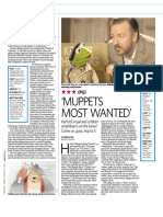 """Film Review - """"Muppets Most Wanted"""""""