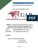 TRABAJO AFORO DE CAUDALES.docx
