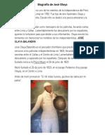 Biografía de José Olaya