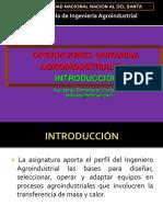 Clase 1- Operaciones Unitarias i i