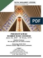 June 24, 2017 Shabbat Card