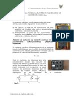 Medicion de La Potencia Electrica en Circuitos de Cc 8