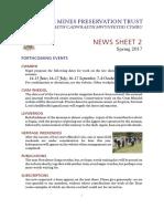 WMPT News Sheet 2 (Spring 2017)