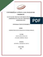 Integracion Economica _trabajo