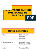 Inventario Clínico Multiaxial de Millon II