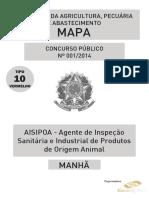 Aisipoa – Agente de Inspeção Sanitária e Industrial de Produtos de Origem Animal - Tipo 10