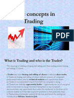 Basic Concepts in Trading Lec 4
