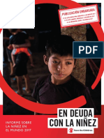 Informe Sobre La Niñez en El Mundo 2017 Save the Children
