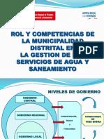 Rol de la Municipalidad en Agua y Saneamiento