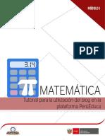 Tutorial Utilización Blog Plataforma Perúeduca