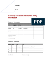 Security Incident Response (SIR) Handbook