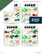 Bingo Verduras