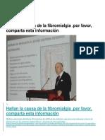 Fibromialgia Hallan La Causa