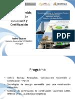 11 Energía Renovable, Construcción Sostenible y Certificación Parte I - Isabel Santos