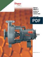 Durco Mark 3. Bombas de Processo Químico ANSI. Mark 3 ANSI Sealmatic Lo-Flo Rotor Recuado Unitized Auto-Escorvante. Pump Division