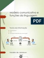 Modelo Comunicativo e Funções