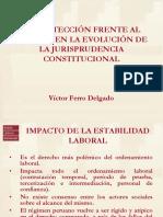 La Protección Frente Al Despido en La Evolución de La Jurisprudencia Constitucional