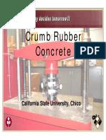 Crumb Rubber Concrete