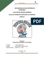 TRANSMISION POR BANDAS Y POR CADENAS