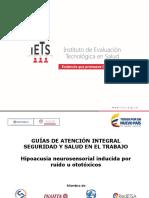 Presentacion-gatissthipoacusia Neurosensorial Inducida Por Ruido u Ototóxicos