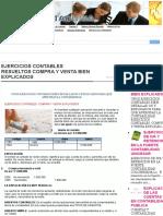 EJERCICIOS CONTABLES RESUELTOS COMPRA Y VENTA BIEN EXPLICADOS   CONTADURIA PUBLICA COLOMBIA