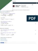 Ejercicios de Logaritmos Propiedades