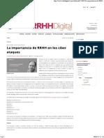 La Importancia de RRHH en Los Ciber Ataques