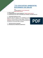 Proyecto Educativo Ambiental Integrado Salud...