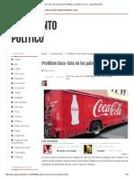 Prohíben Coca-Cola en Los Paises de Bélgica, Holanda y Francia - Argumento Politico