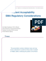 Patient Acceptability EMA Regulatory Considerations