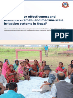 Framework for Effectiveness and Resilience of Small and Medium Scale Irrigation Systems in Nepal