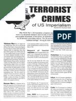 Terrorist Crimes of US Imperialism