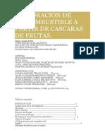 Elaboracion de Biocombustible a Partir de Cascaras de Frutas