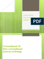 Alternative Sources of Green Energy