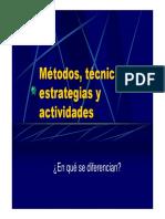 Metodos estrategias