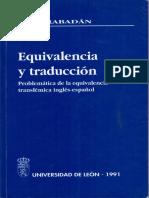 Equivalencia y Traducción