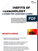 The Benefits of Terminology a Guide for Language Lovers