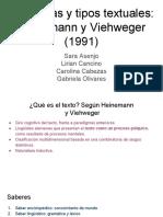 Ciapuscio (1994) Apartado Heinemann y Vieweger