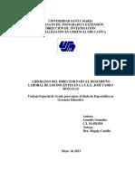 Liderazgo Del Director Para El Desempeno Laboral de Los Docentes Docx
