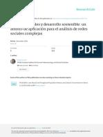 Lozano-procesos Sociales y Desarrollo Sostenible Ambito de Aplicacion Para El Analisis de Redes Sociales Complejas