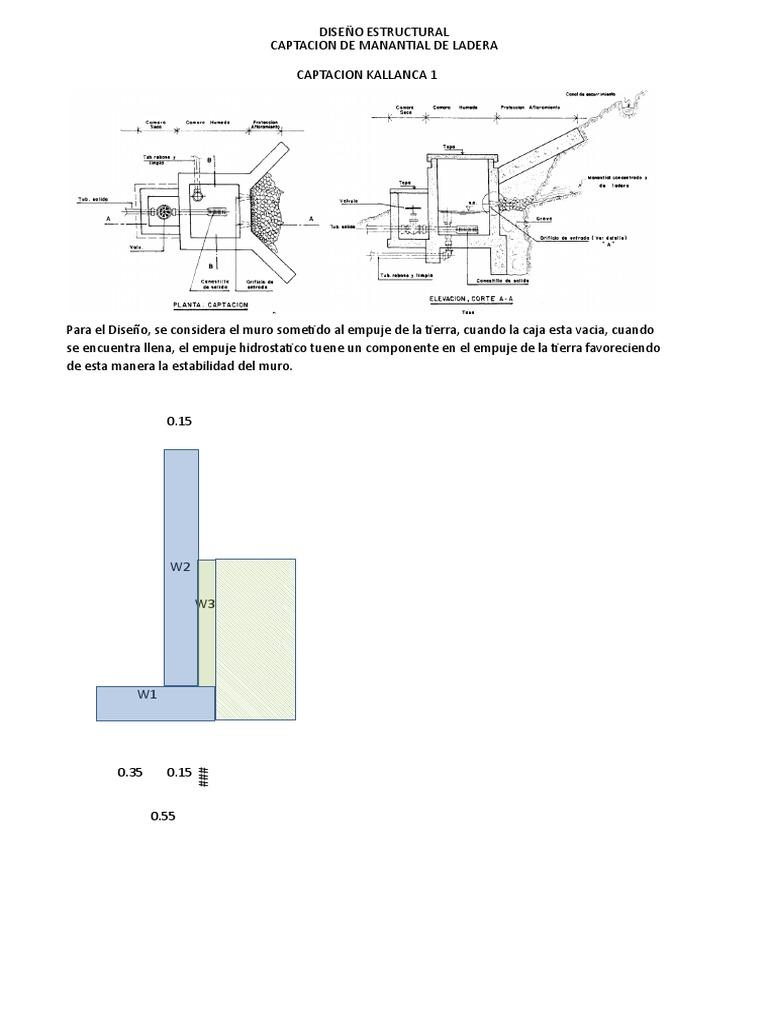 18 Calculo Estructural Captacion De Ladera