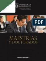 Catálogo UJMD Maestrías y Doctorado