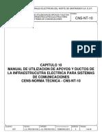 Capitulo 10 Manual de Utilización de Apoyos y Ductos de Infraestrucura Electrica Para Sistemas de Comunicaciones Cens