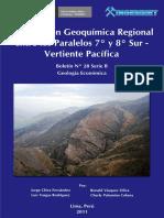 Prospeccion Geoquimica Regional Entre Los Paralelos 7 y 8 Sur Vertiente Del Pacifico, 2011