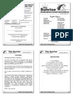 RCDE Sunrise Bulletin 3rd Issue