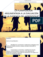 De La Planificación Argumentada a La Evaluación Formativa