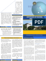 Certificate in Teaching Programs