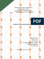 Sistema Clasificacion Decimal Dewey Nivel Uno y Nivel Dos